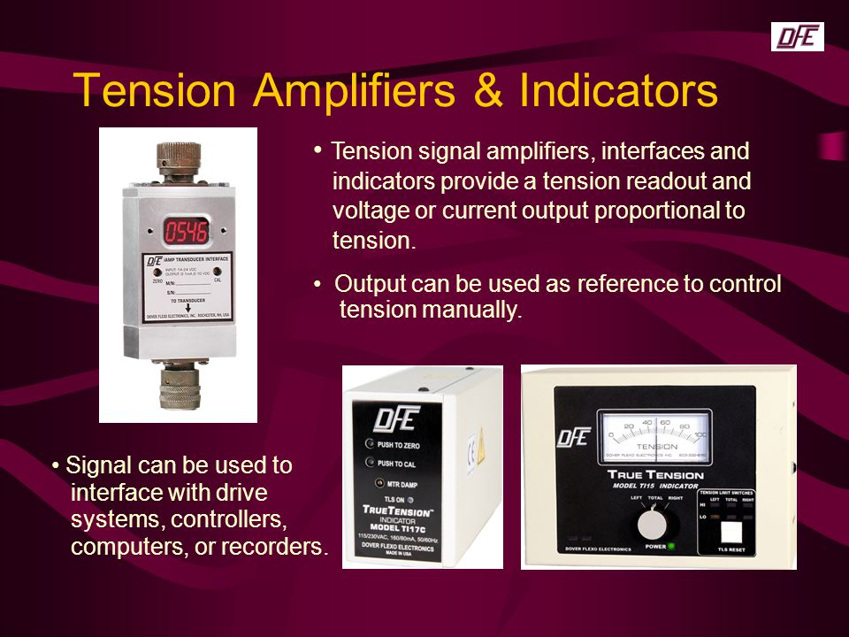 Tension Amplifiers & Indicators