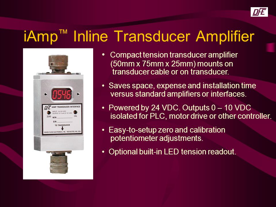 iAmp™ Inline Transducer Amplifier