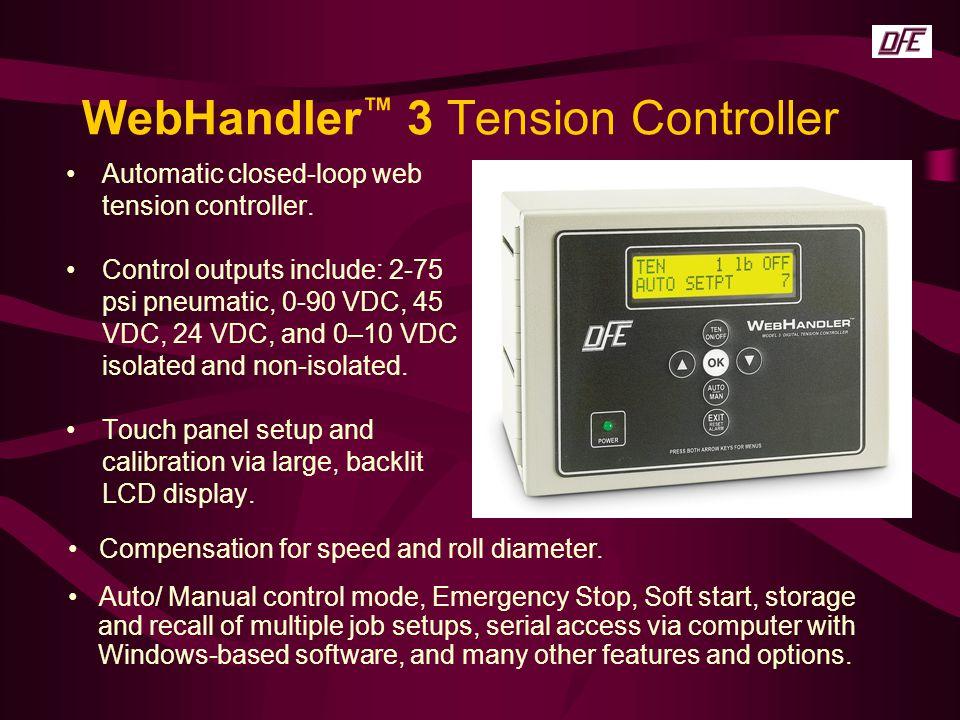 WebHandler™ 3 Tension Controller