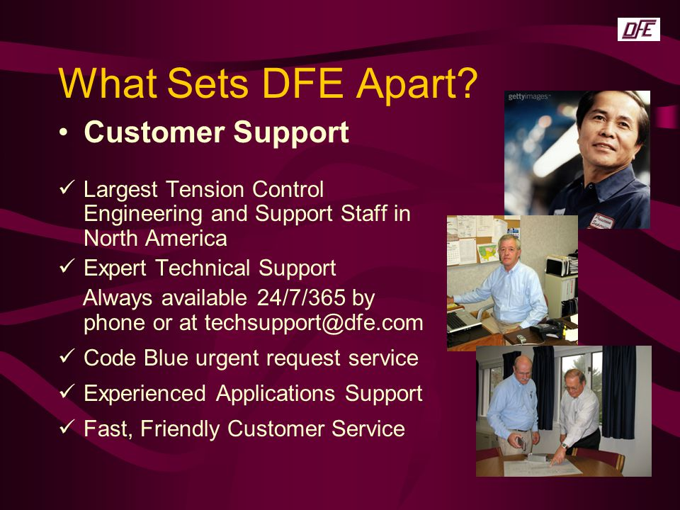 What Sets DFE Apart Customer Support