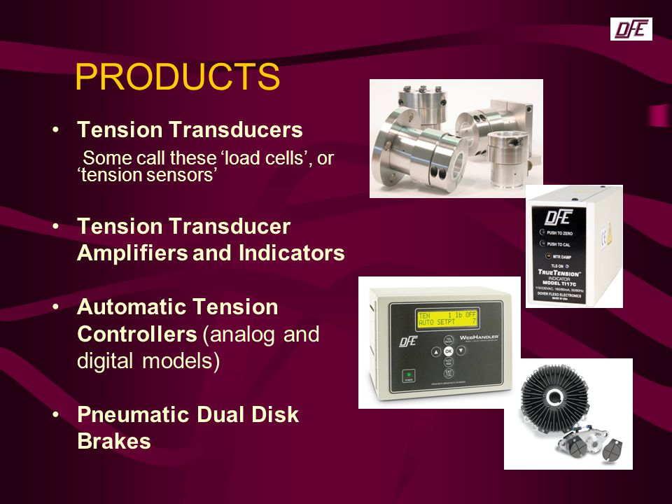 PRODUCTS Tension Transducers