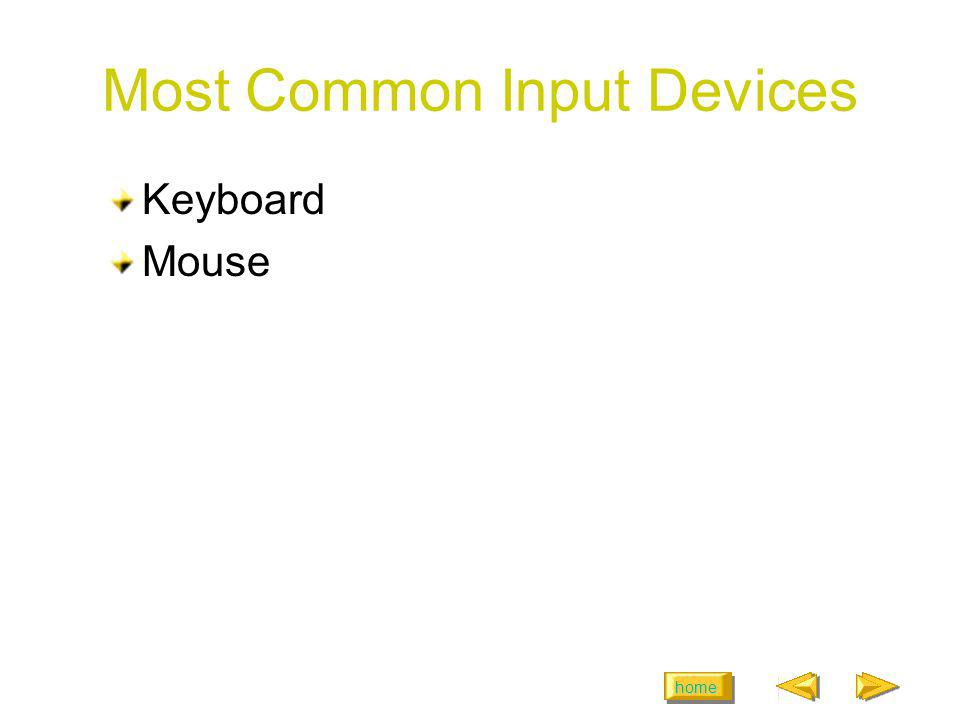 Most Common Input Devices