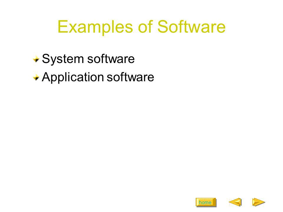 Examples of Software System software Application software