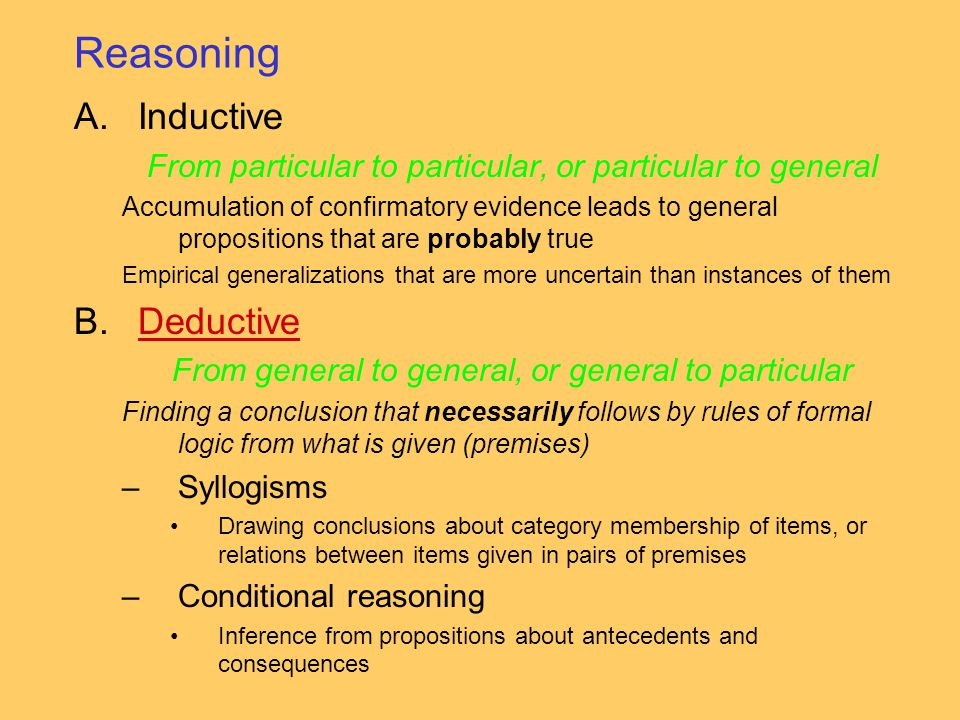 Reasoning Inductive Deductive