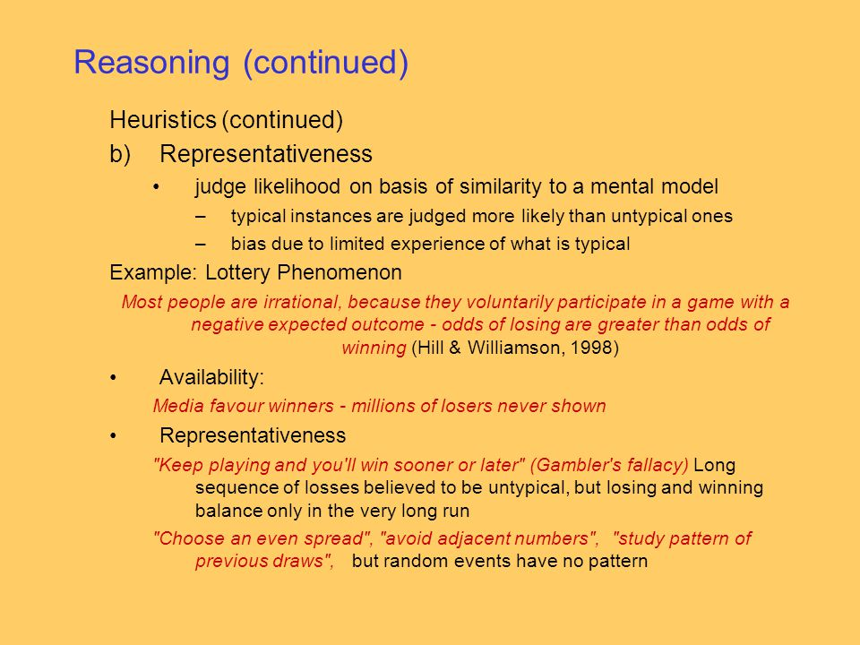 Reasoning (continued)