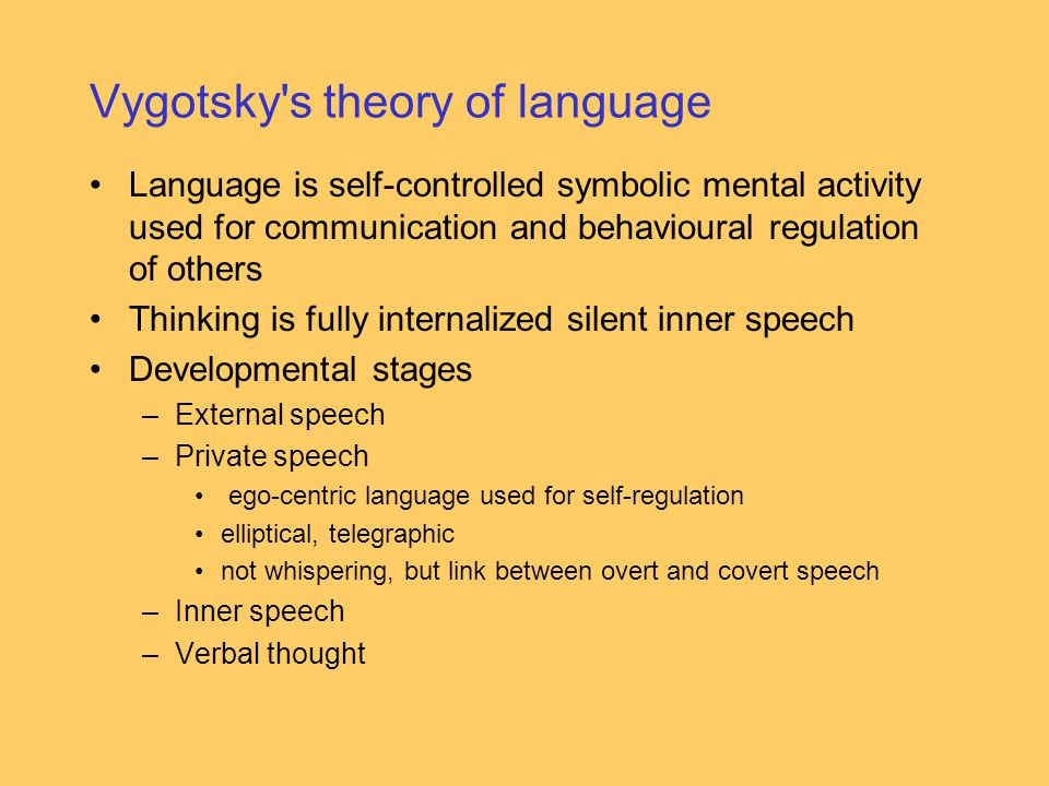 Vygotsky s theory of language