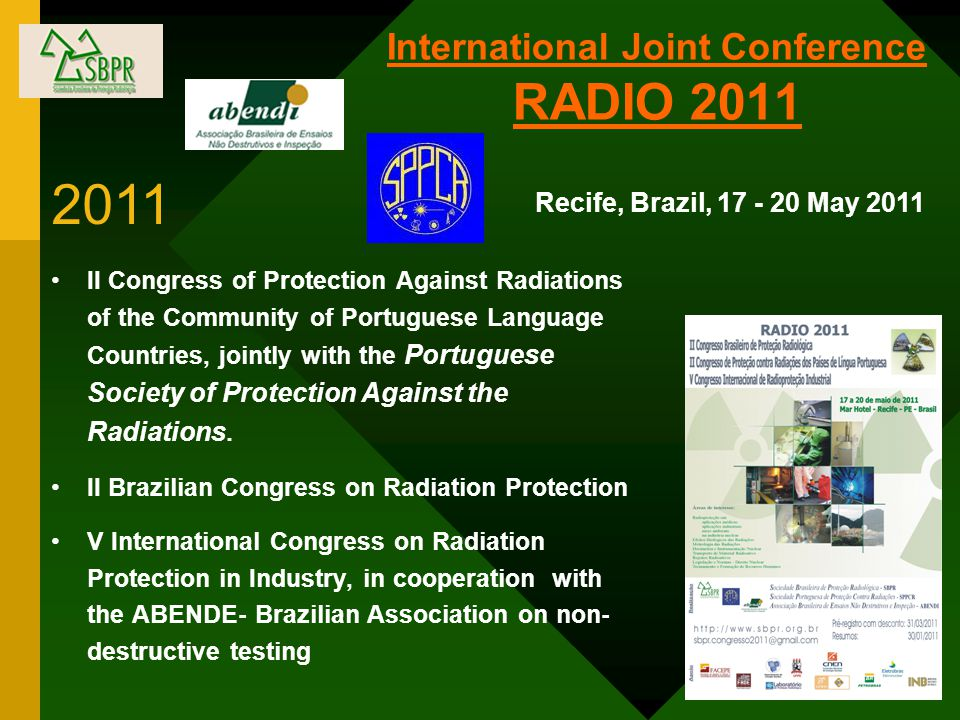 International Joint Conference RADIO 2011