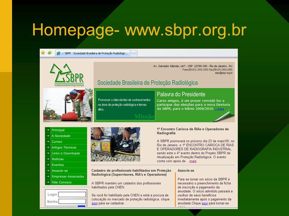 Homepage- www.sbpr.org.br