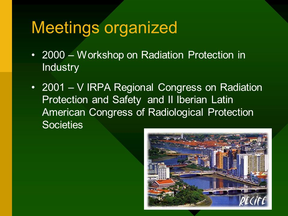 Meetings organized 2000 – Workshop on Radiation Protection in Industry