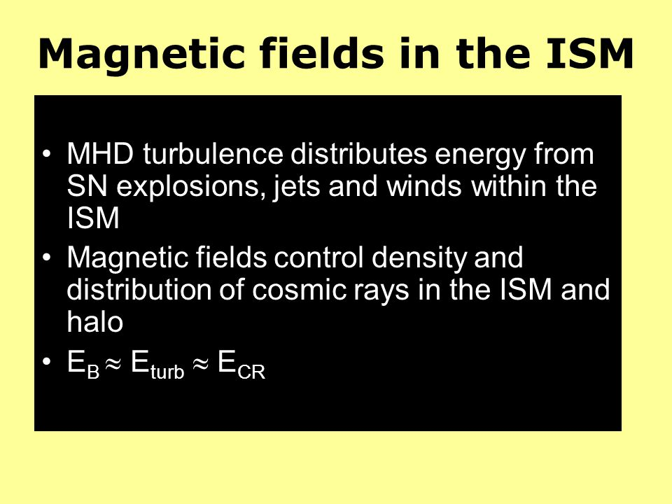 Magnetic fields in the ISM