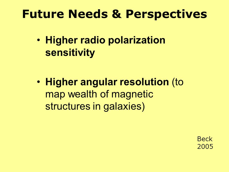 Future Needs & Perspectives
