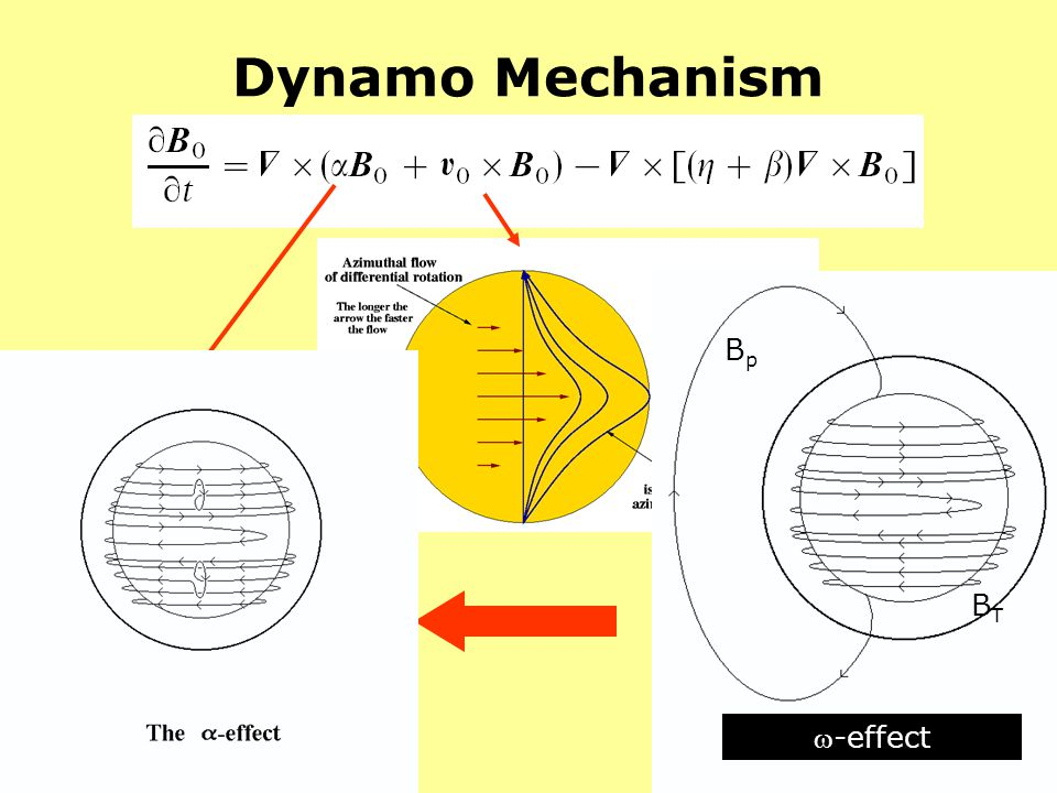 Dynamo Mechanism Bp -effect BT -effect