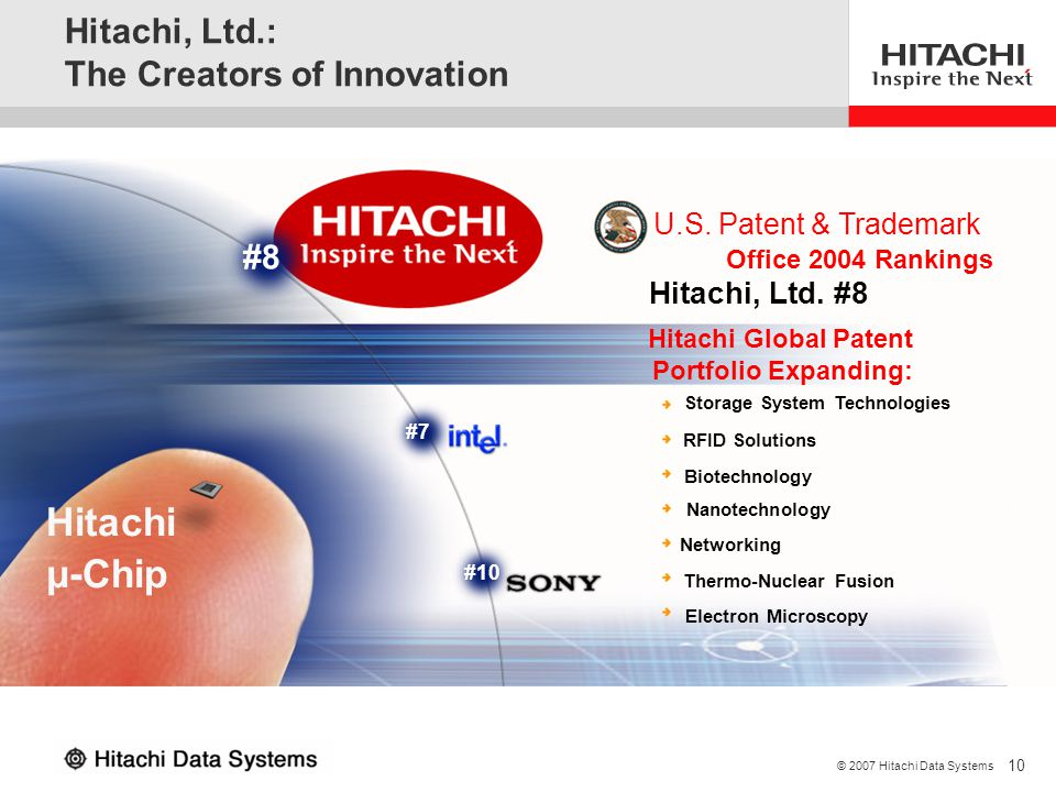 Hitachi, Ltd.: The Creators of Innovation