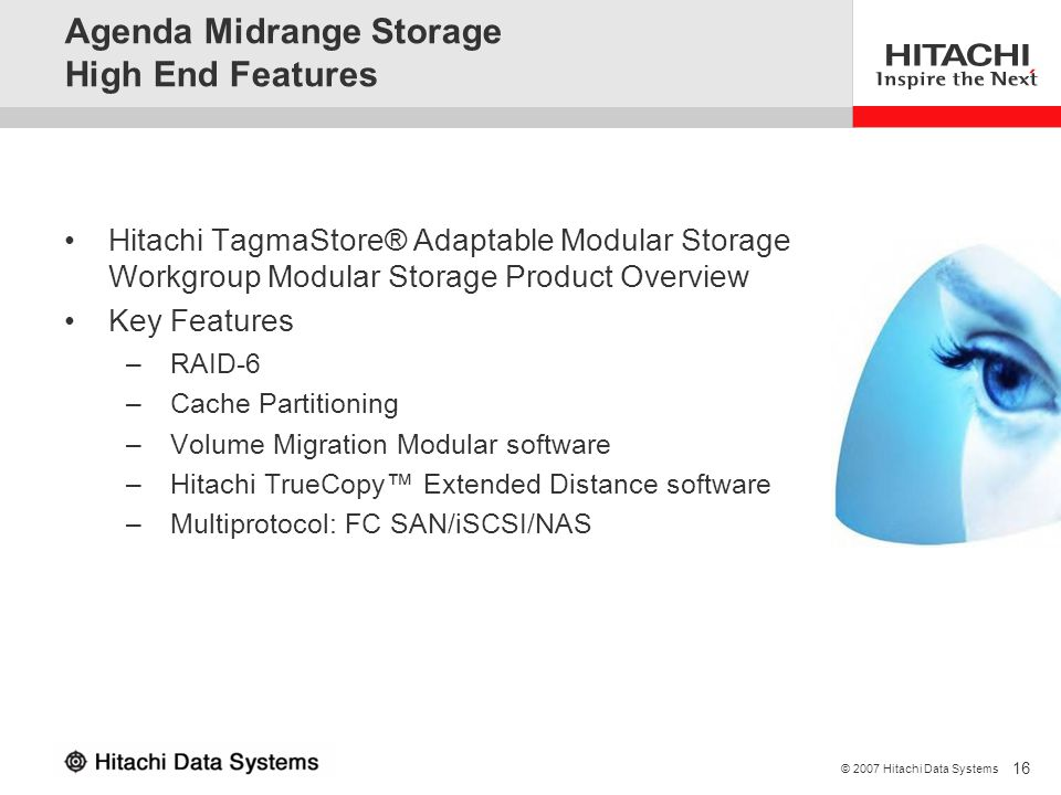 Agenda Midrange Storage High End Features