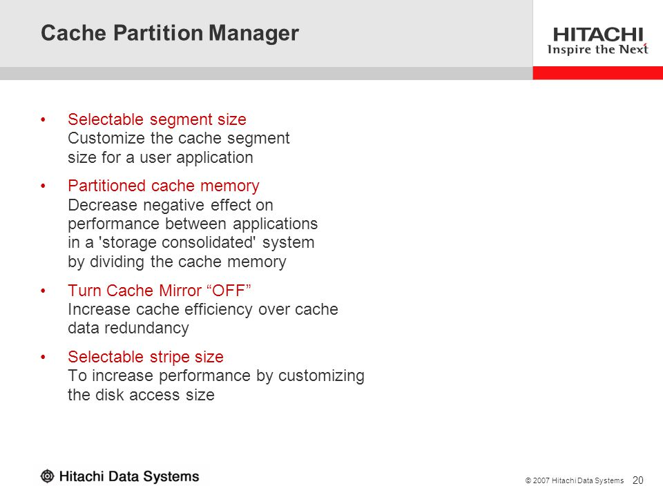 Cache Partition Manager