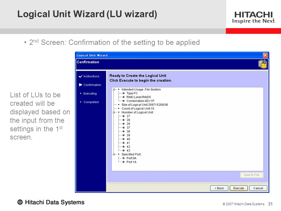 Logical Unit Wizard (LU wizard)
