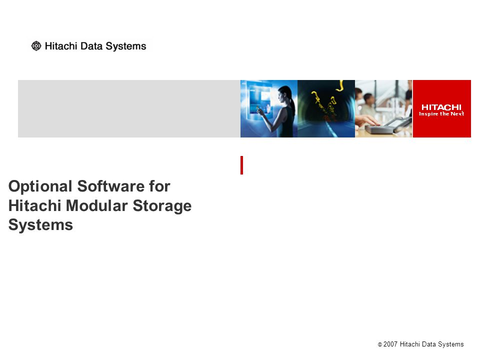 Optional Software for Hitachi Modular Storage Systems