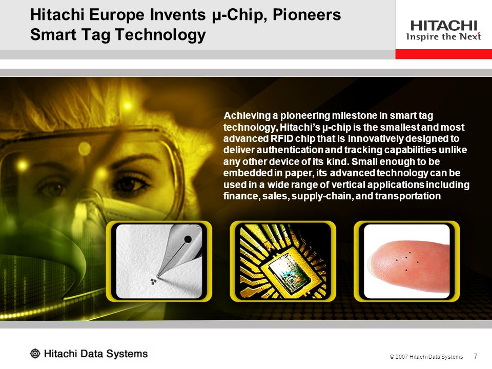 Hitachi Europe Invents µ-Chip, Pioneers Smart Tag Technology