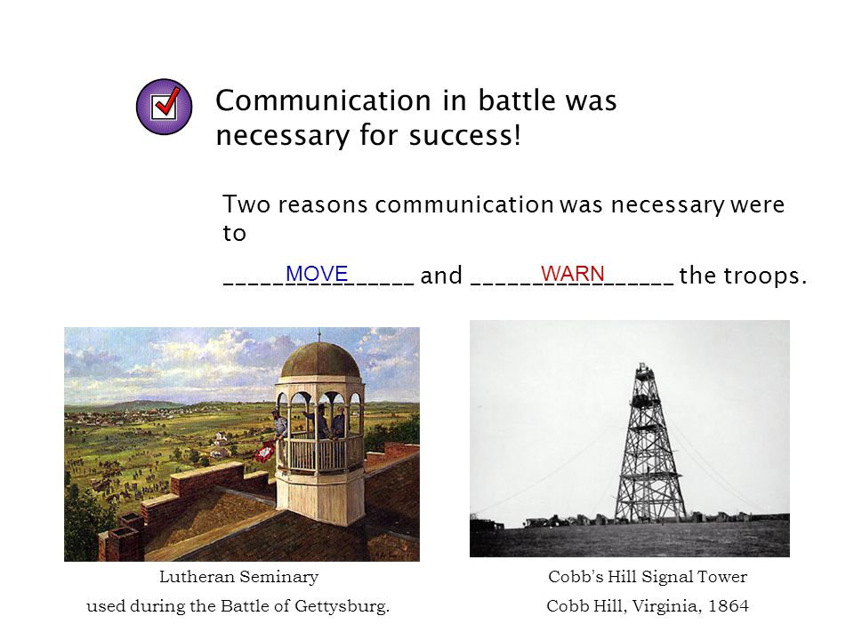 Communication in battle was necessary for success!