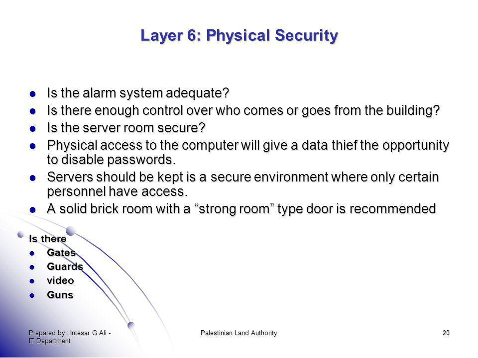Layer 6: Physical Security