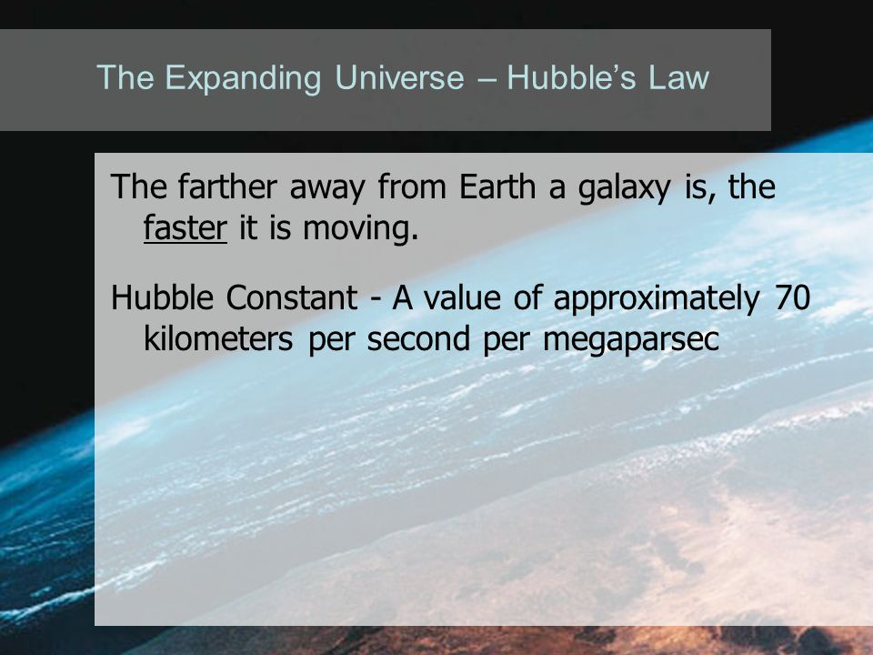 The Expanding Universe – Hubble's Law