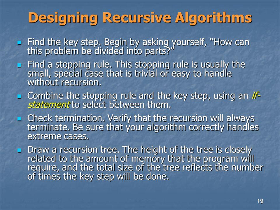 Designing Recursive Algorithms