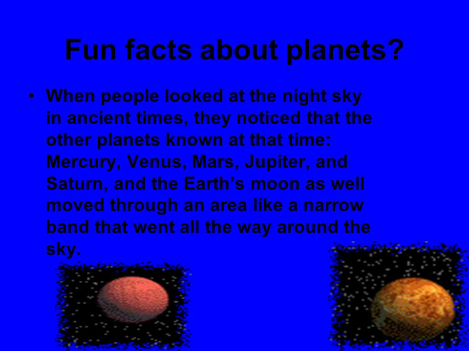 Fun facts about planets