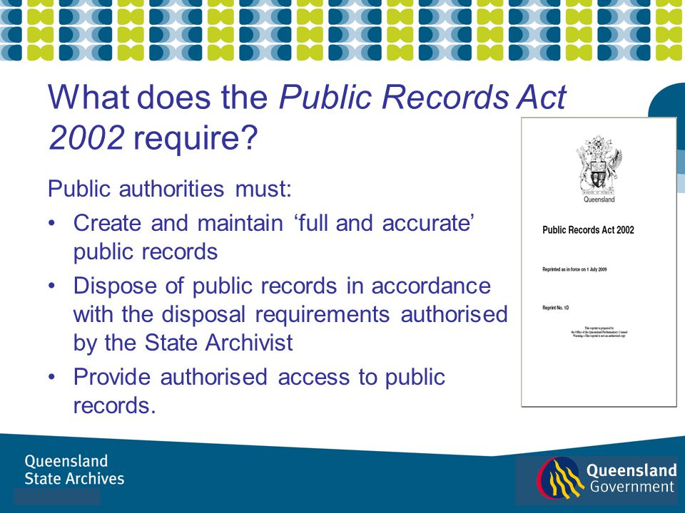 What does the Public Records Act 2002 require