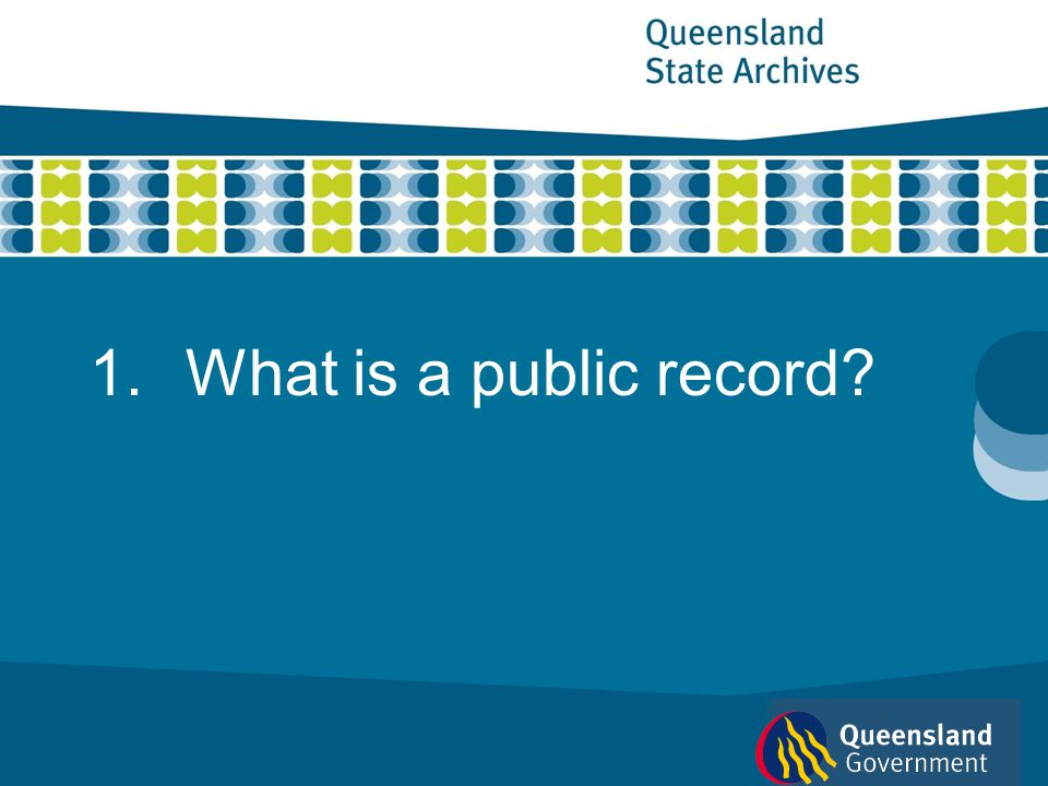What is a public record 1 of 13