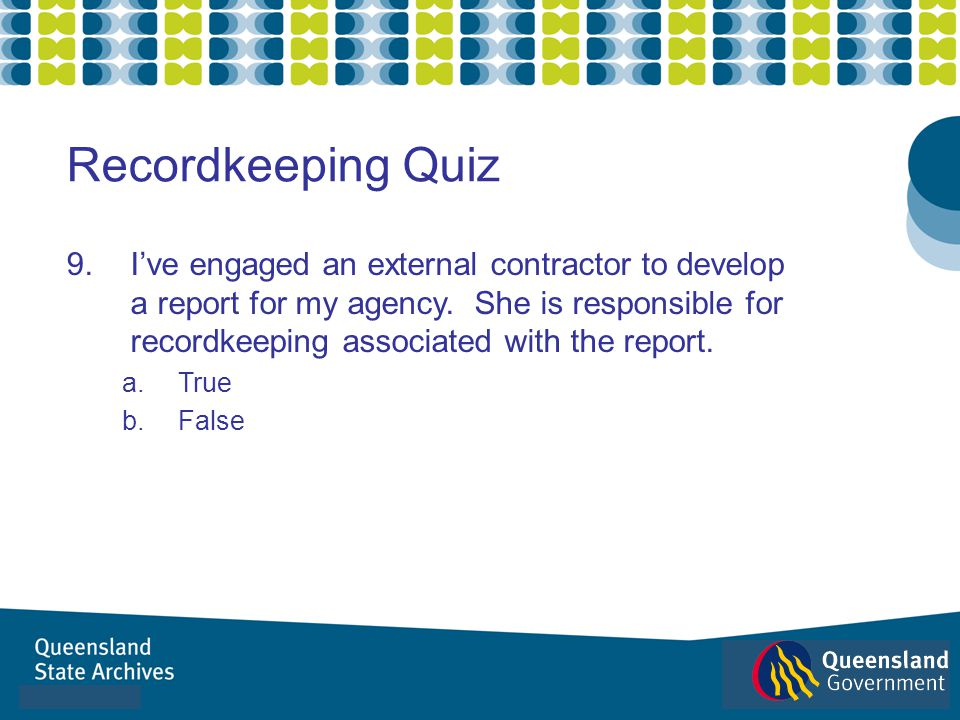 Recordkeeping Quiz