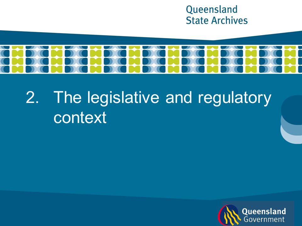The legislative and regulatory context