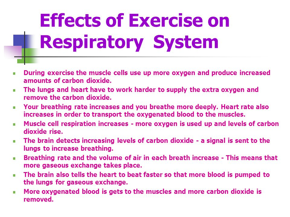 Effects of Exercise on Respiratory System