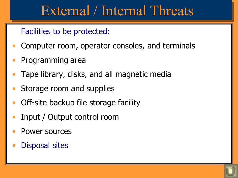 External / Internal Threats