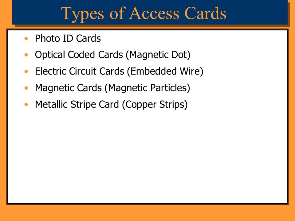 Types of Access Cards Photo ID Cards