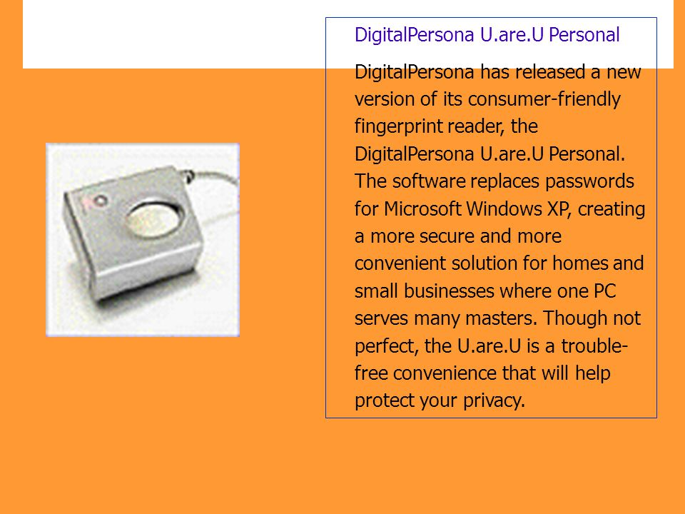 DigitalPersona U.are.U Personal