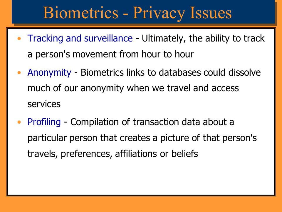 Biometrics - Privacy Issues