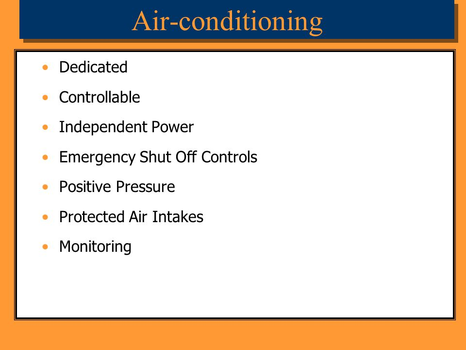 Air-conditioning Dedicated Controllable Independent Power