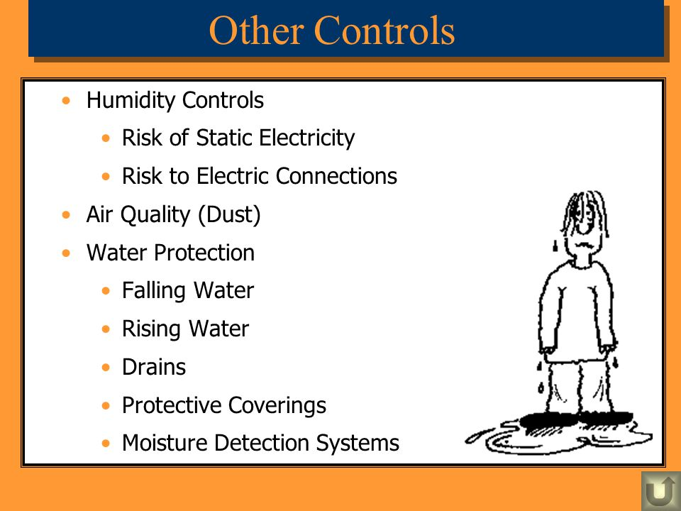 Other Controls Humidity Controls Risk of Static Electricity
