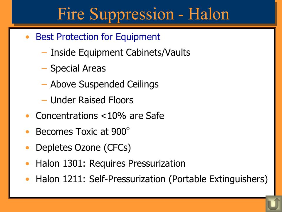 Fire Suppression - Halon