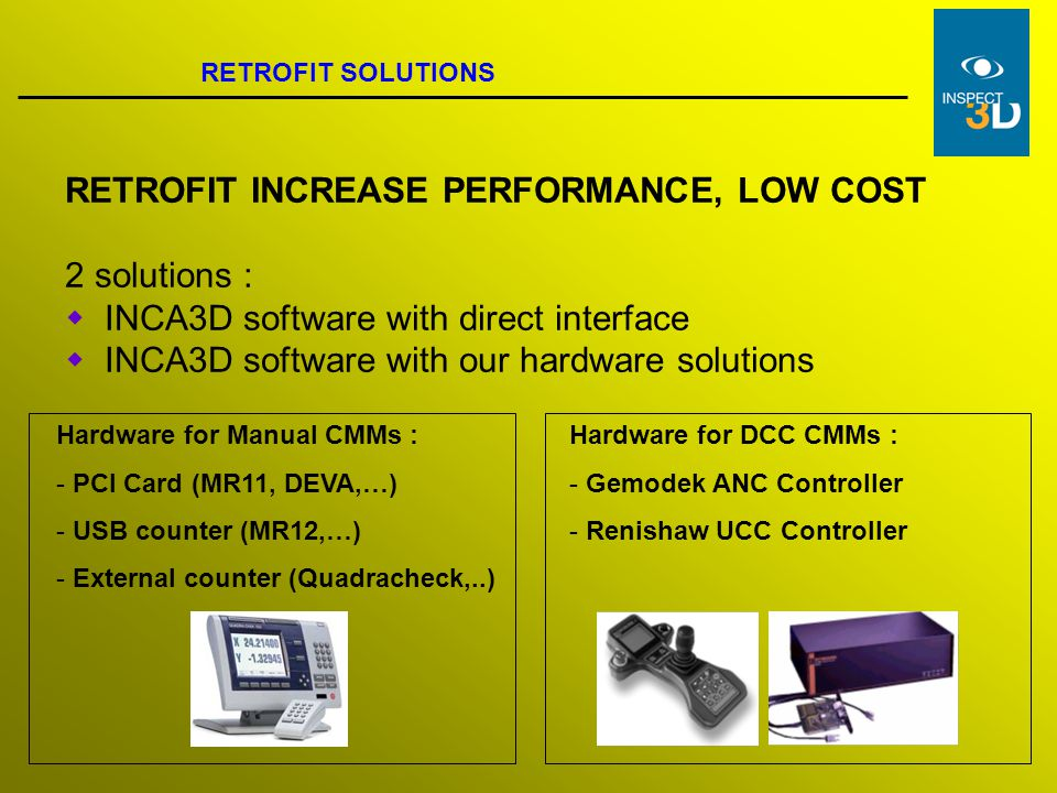 RETROFIT INCREASE PERFORMANCE, LOW COST 2 solutions :
