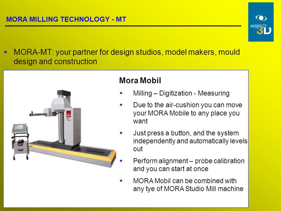 MORA Milling Technology means: everything one-stop Solid construction