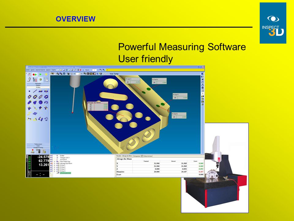 Powerful Measuring Software User friendly