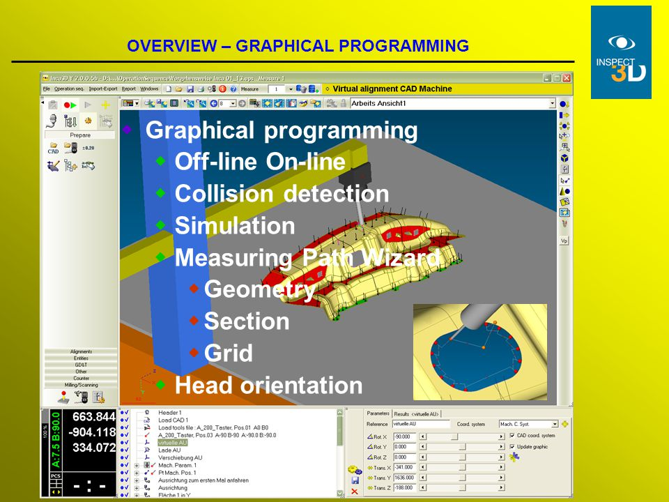 Graphical programming Off-line On-line Collision detection Simulation