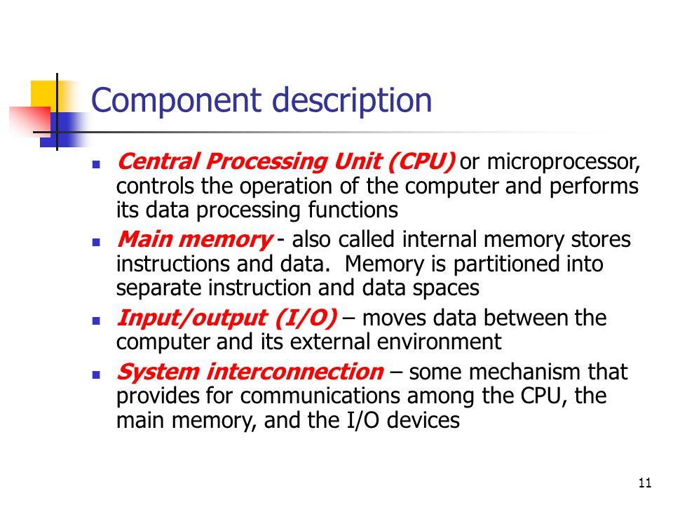 Component description