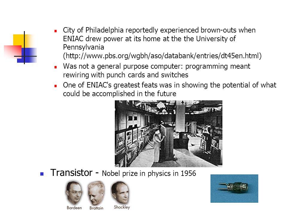Transistor - Nobel prize in physics in 1956
