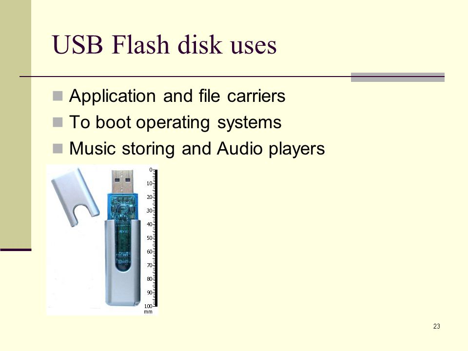 USB Flash disk uses Application and file carriers