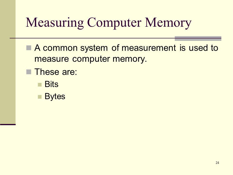 Measuring Computer Memory
