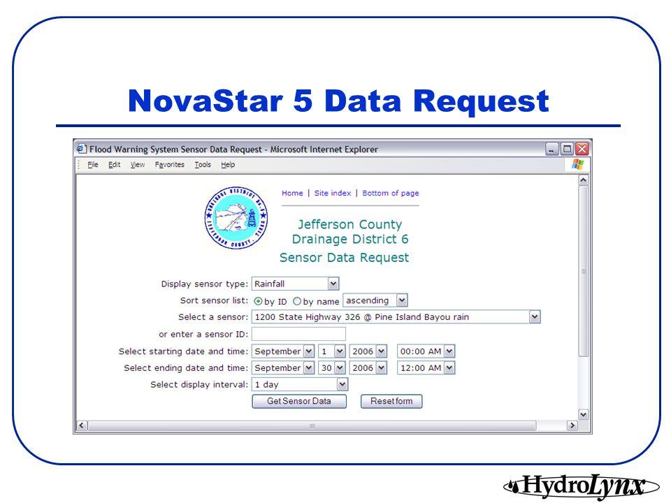 NovaStar 5 Data Request