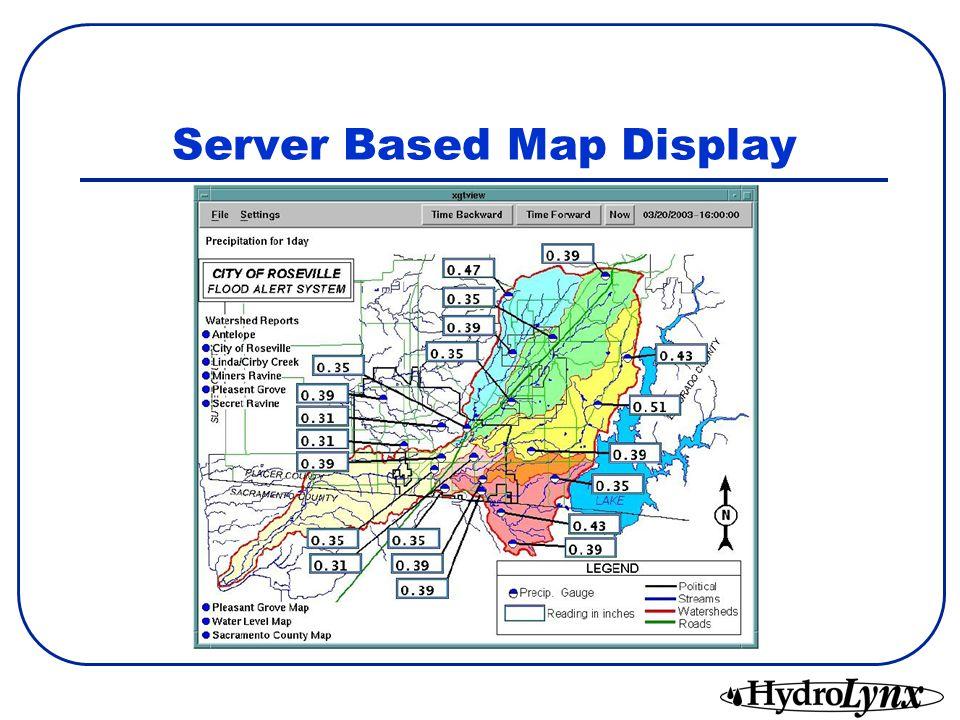 Server Based Map Display
