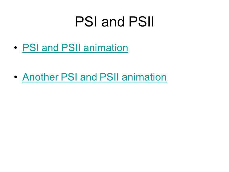 PSI and PSII PSI and PSII animation Another PSI and PSII animation